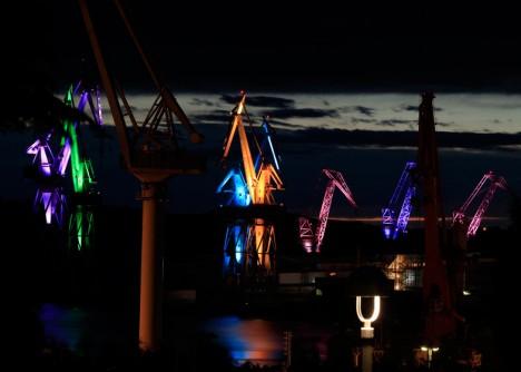 shipyard light colorful