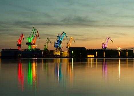 shipyard light show art