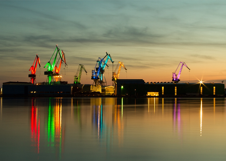 shipyard light show art
