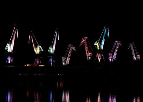 shipyard multi colored installation