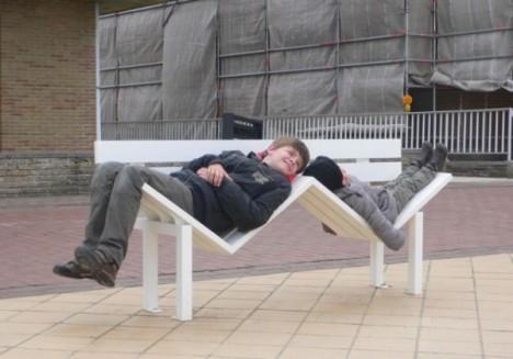 social bench dual seats