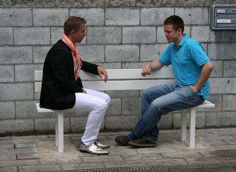 social bench facing seats