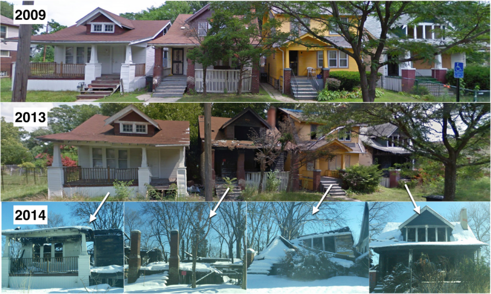Decaying Detroit: Google Street View Shows Change Over Time