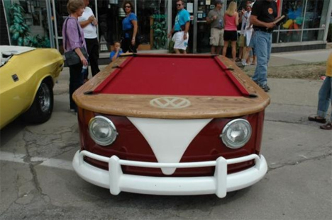 vw bus pool table conversion