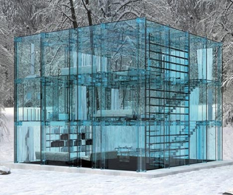 living in a bubble: 15 privacy-free transparent houses | urbanist
