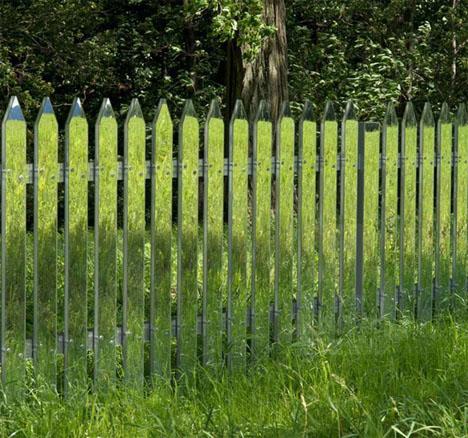 Mirror Art Picket Fence 1