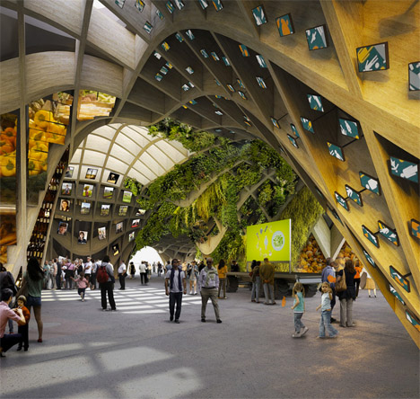Pavilions Wood Faceted 2