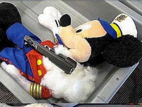 TSA Confiscated Mickey Mouse Guns