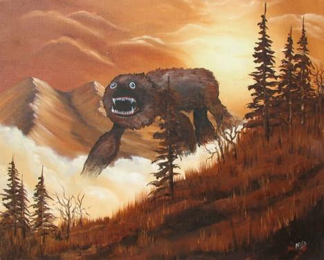 Chris McMahon Mountain Monster painting