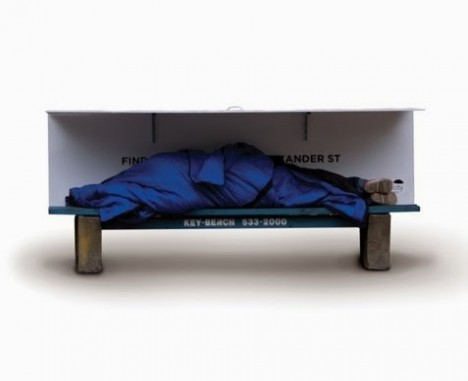 bench bedroom homeless shelter