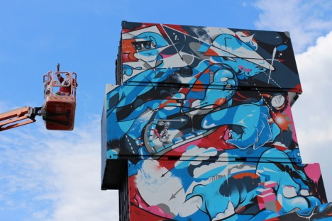 cargo container lift crane