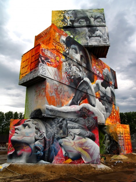 cargo shipping container art