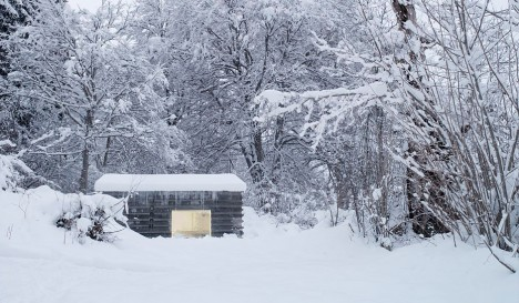 concrete cabin snow context