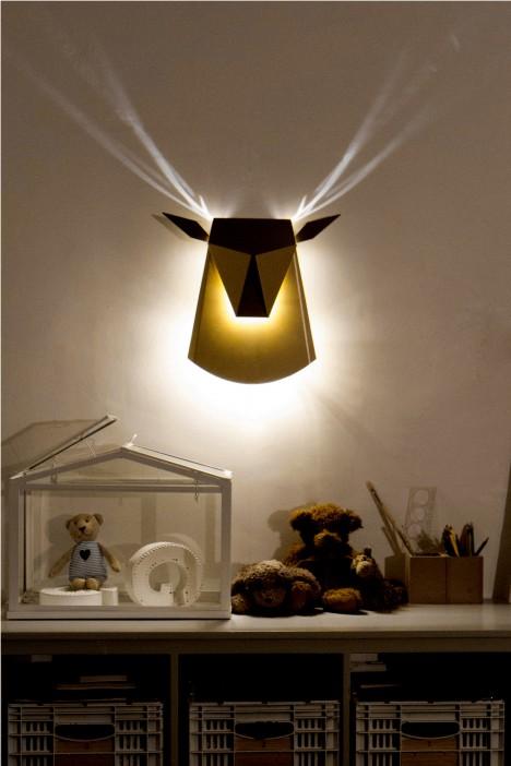 dear head light in room
