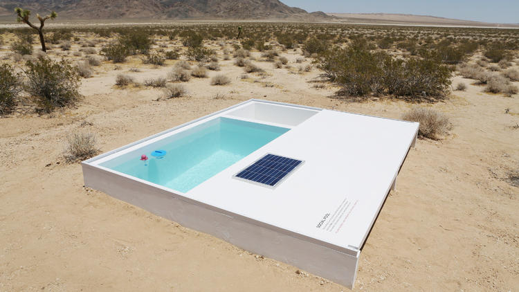 desert pool installation project