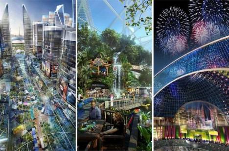 indoor city domed spaces