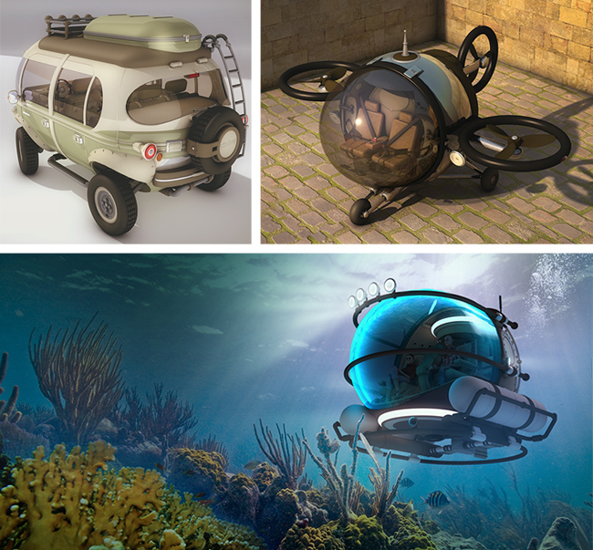 land sea air vehicles