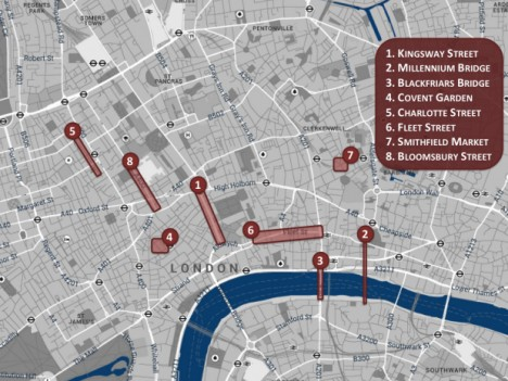 london main sites map