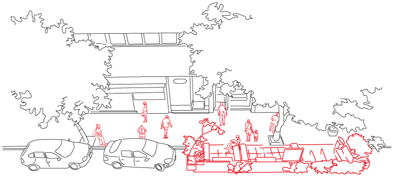 parklet drawing design detail