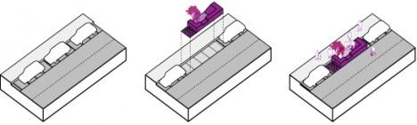 parklet simple axon drawing
