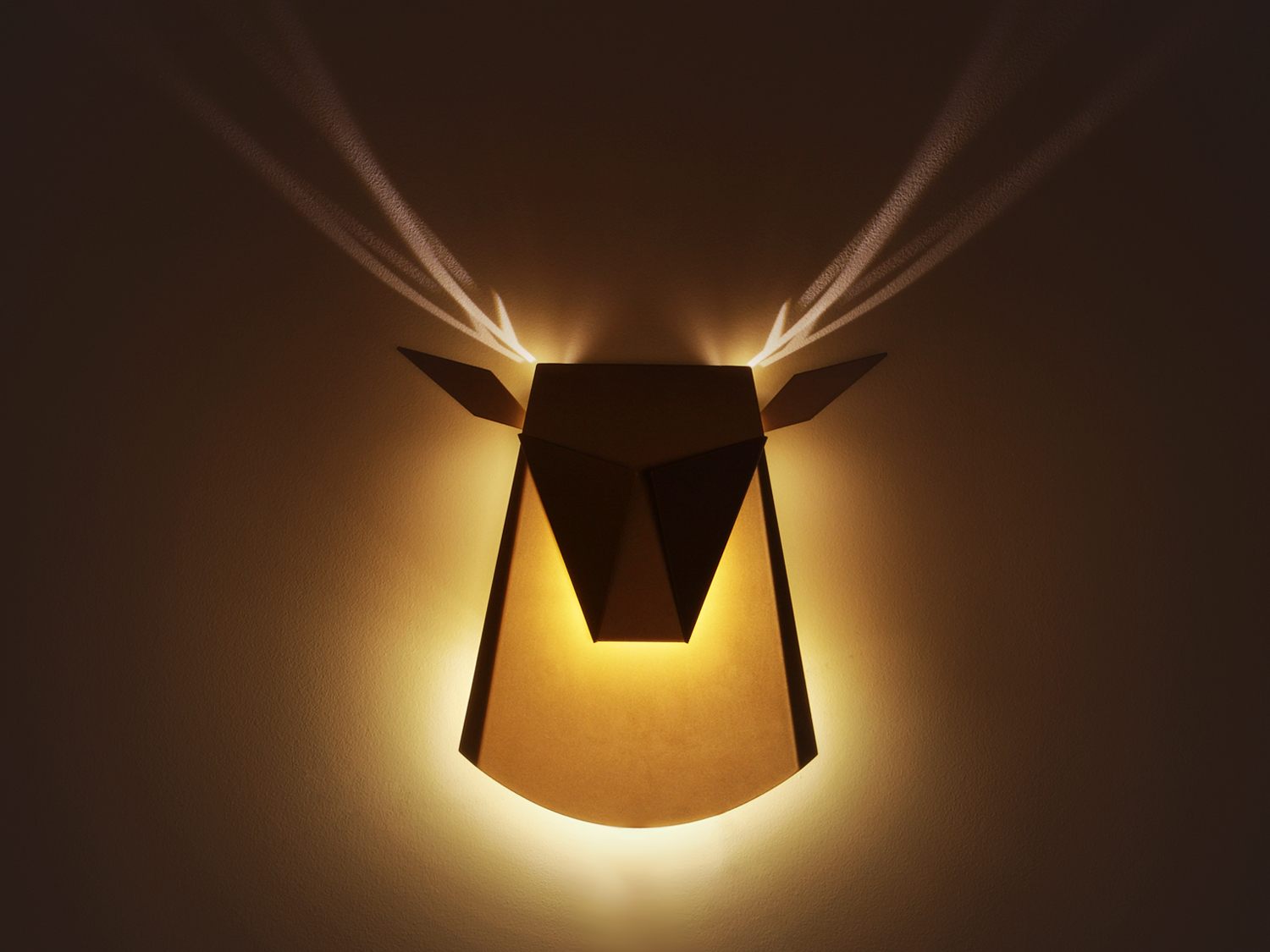 Head light popup wall lamp has horns that glow in shadows urbanist mozeypictures Gallery