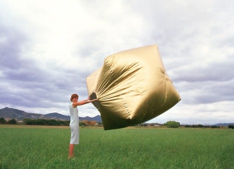 portable pocket house inflated