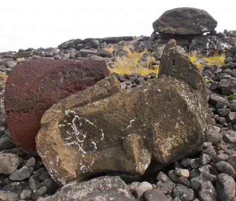 toppled Moai Easter Island