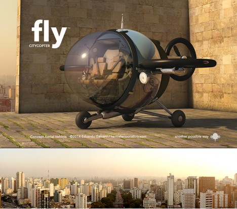 vehicle fly citycopter concept