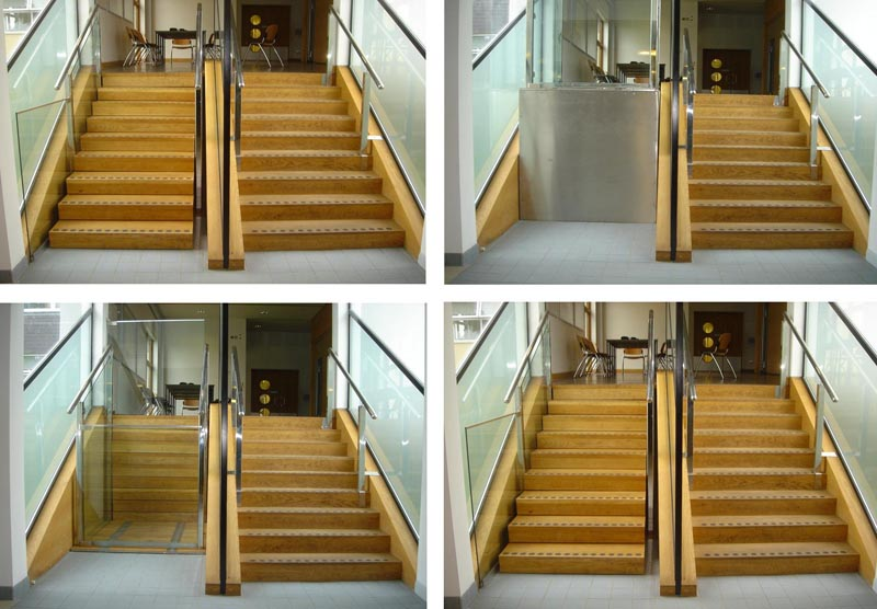 Retractable Stairs Open to Reveal Secret Urban Wheelchair Lifts ...