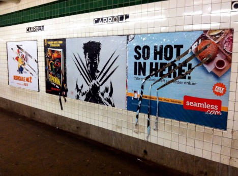 wolverine movie subway ad
