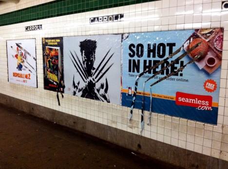 wolverine movie subway ad