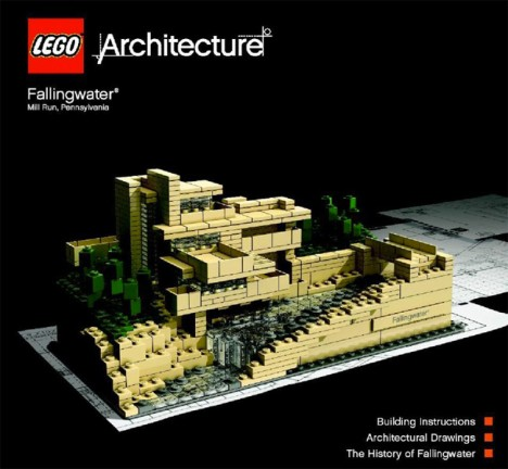 Lego architecture 12 sets explore buildings brick by brick urbanist - Falling waters lego ...