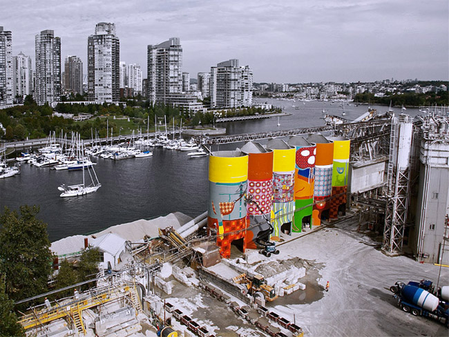Industrial silos to public art massive mural for for Mural vancouver