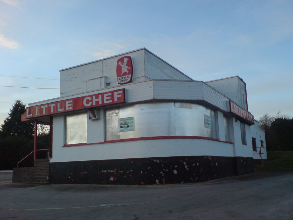 abandoned Little Chef restaurant Wansford 1b