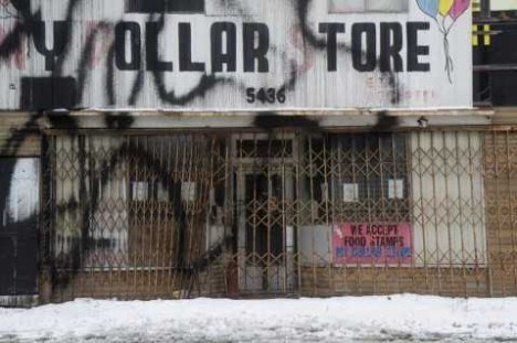 abandoned closed Detroit dollar store 1