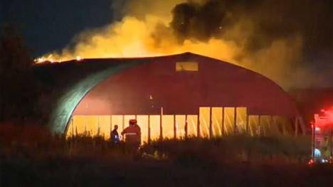 abandoned fireworks warehouse fire Calgary 1