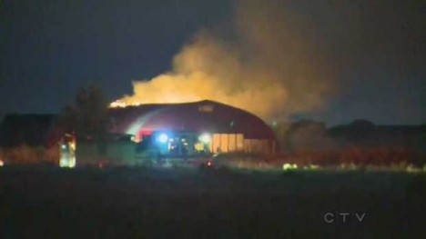 abandoned fireworks warehouse fire Calgary 2