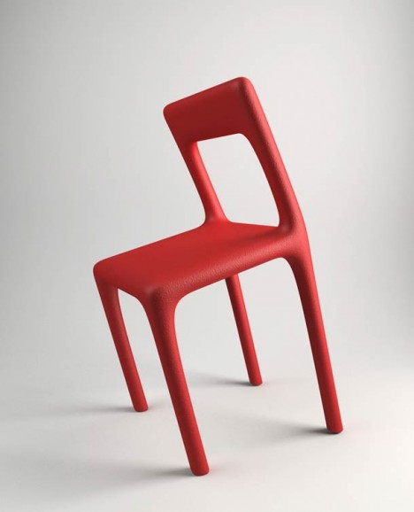 bent chair sloped seat