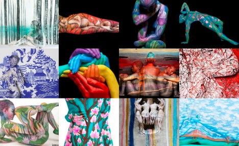 body painted art photography