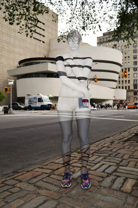 body painted guggenheim museum