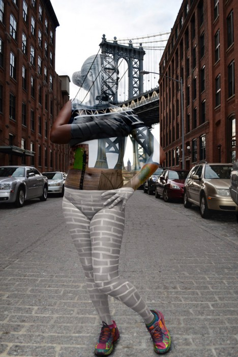 body with manhattan bridge