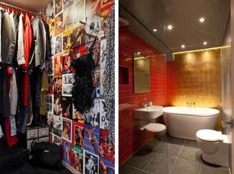 converted house closet bathroom