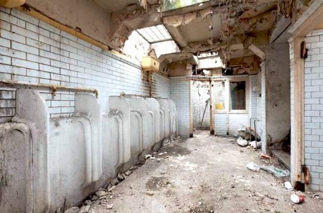 deserted public restroom uk