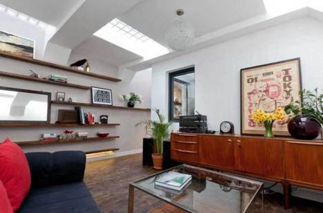 deserted underground home skylights