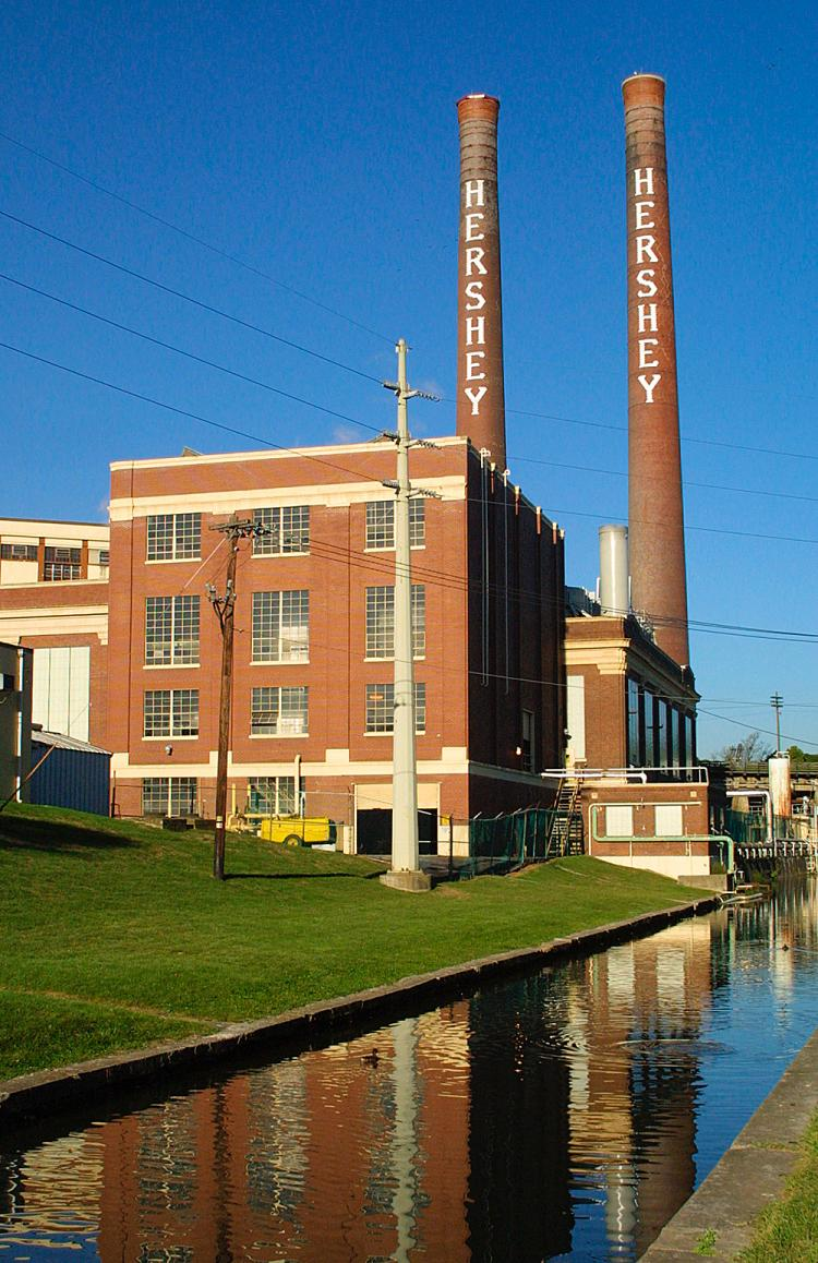 abandoned Hershey chocolate factory Pennsylvania smokestacks