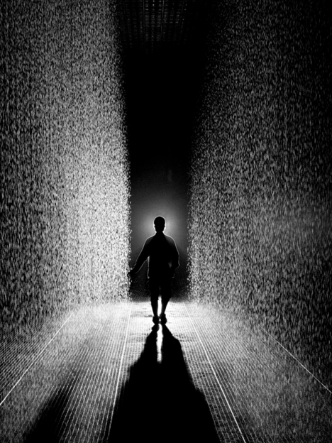 rain room gallery installation