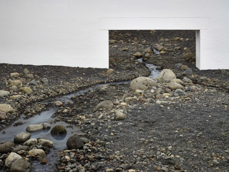 riverbed art installation denmark