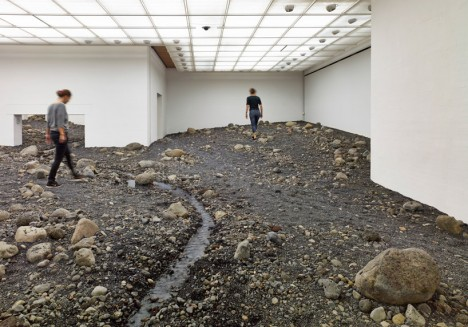 Interior Land Art: Riverbed Really Runs Through this Museum