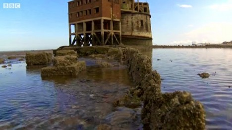 sea fort footage closeup