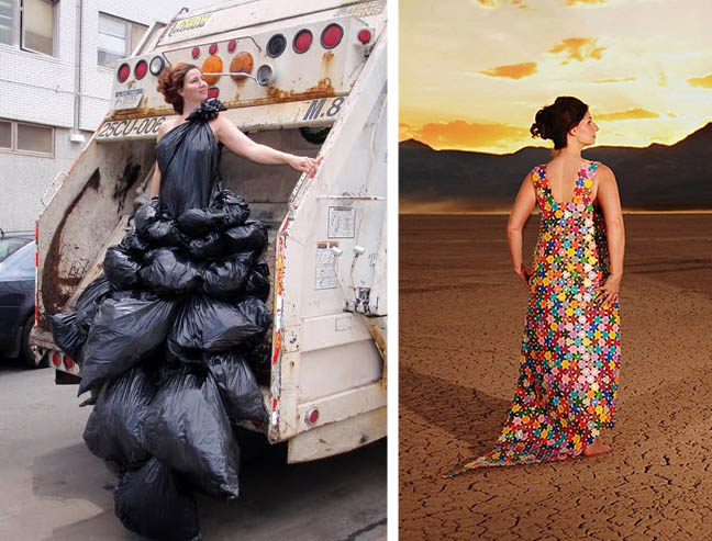 Dress Down Wild Women\u0027s Dresses Made of Trash, Trees \u0026 More